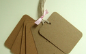 Blank Gift Tags Large Shapes, Pks of Four and Six