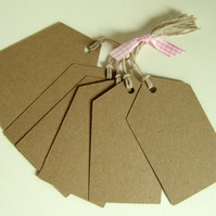 Card Gift Tag Bundle, Large Luggage Message Tag pack of 6