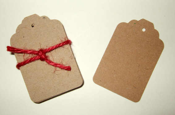 Kraft Card Blank Gift, Message Tags 30 pack