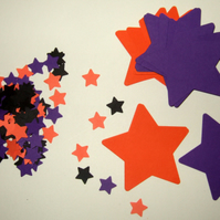 Halloween Colours,Card Stars Shapes for Craft 200 Pk,Assorted Sizes,