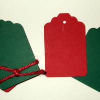 Card Gift Tags Blank 30 pack, Christmas Colours