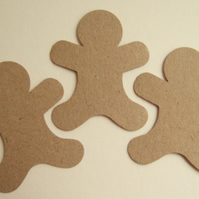 Gingerbread Man Punched Shape 25pack