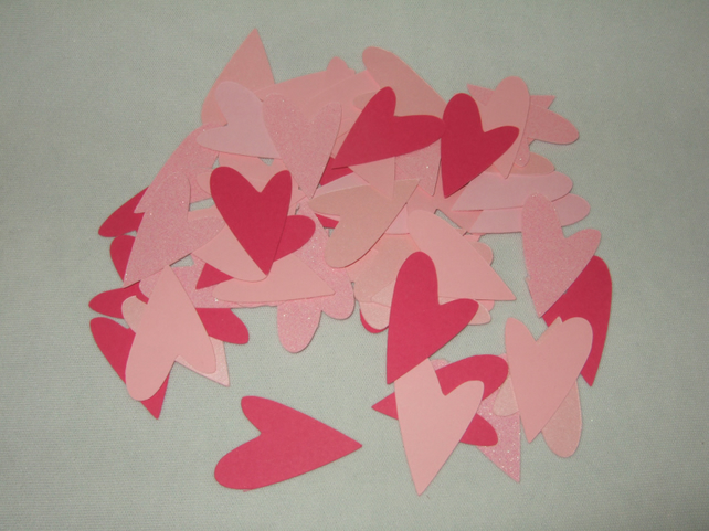 Heart Shapes in Shades of Pink Card, 100 pack