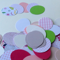 Card Egg Shapes - 100 pk assorted colours and finishes