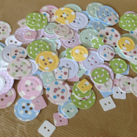 Spots & Dots Card Buttons, Various Colours 100pk