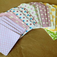 Card Gift,Message Blank Tags,Pack of 100,Handmade Tags,Spots & Dots