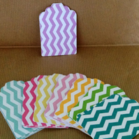 Card Gift,Message Blank Tags,Pack of 100,Handmade Tags,Chevron Print