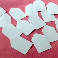White Card, Blank Mini Message or Gift Tags, 100 pack