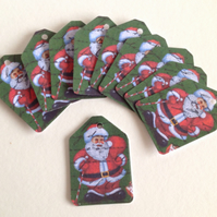 Vintage Father Christmas Print,Mini Message,Gift,Decorative Tags, 100pk