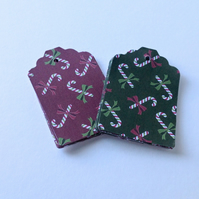 Christmas Candy Cane Blank Gift Tags,Pk of 30 Two Designs,Xmas Gift Tags