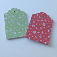 Christmas Snowflakes Blank Gift Tags,Pk of 30 Two Designs,Handmade Xmas Tags