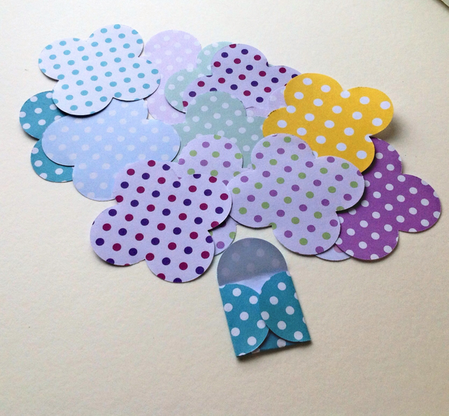 Mini Paper Envelopes,Pastel Polka Dot Pattern,100pack