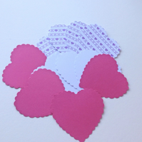 Card Heart Shapes,Large Scalloped Hearts,Pk of 30,