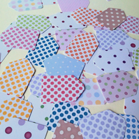 Small Card Gift Tags,Spots&Dots,Mini Message Tags,100pk Various Colours
