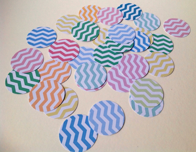 Card Shapes For Craft,Large Circles Smooth Edge,Chevron Print,100pk