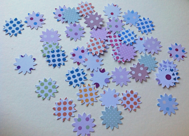 Card Shapes For Craft,Sunflowers in Spotted Prints,Assorted Colours,100pk