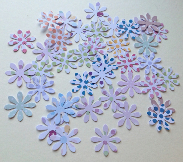 Card Craft Shapes,Small Spotted Daisies,Assorted Colours,100pk
