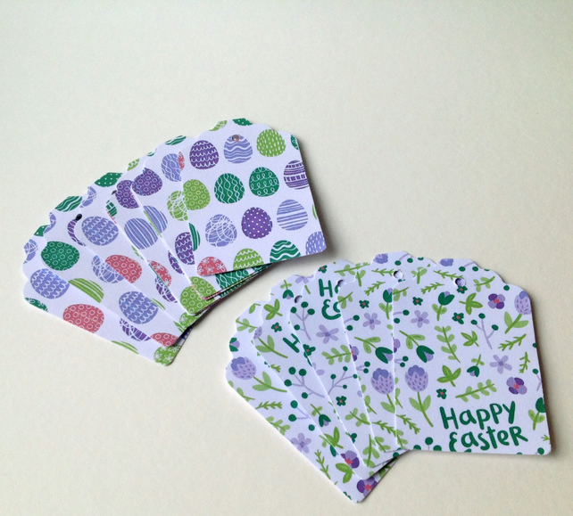Easter Theme, Gift or Message Blank Tags,Co-Ordinating Pack of 30
