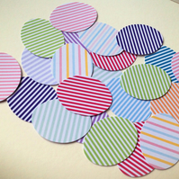 Card Egg Shapes For Craft,Assorted Colours of Candy Stripes,100pk