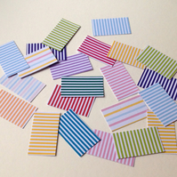 Card Shapes For Craft,Rectangles in Candy Stripes,100pk