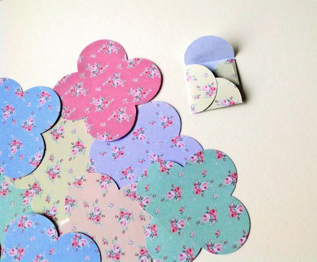 Mini Paper Envelopes,Shabby Chic Print,Assorted Colours,100pk