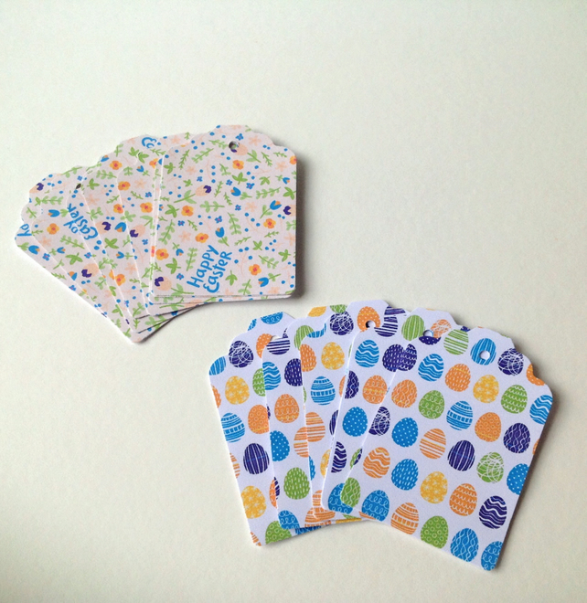 Easter Theme,Gift or Message Blank Tags,Co-Ordinating Pack of 30