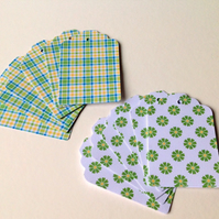 Card Gift,Message Blank Tags,Co-Ordinating 'Spring Greens' Design,30pk