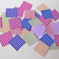 Card Square Shapes For Craft,Assorted Gingham Print,100pk