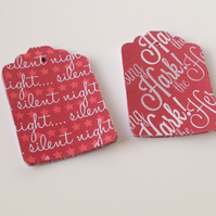 Christmas Songs Themed Blank Gift Tags,30pk 2 Designs,Xmas Tags