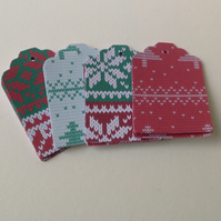 Christmas Jumper Themed Blank,Gift Tags,30 Pk,2 Designs
