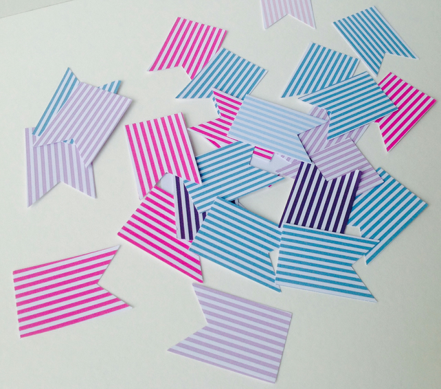 Card Shapes,Flags,Bunting,Bright Stripe Printed Card,100pk