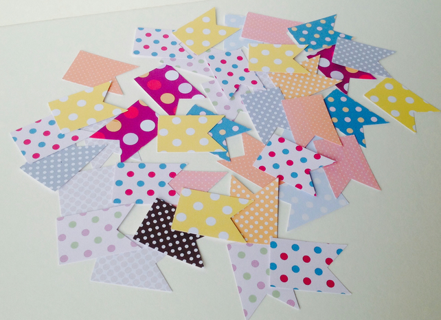 Card Shapes,Flags,Bunting,Spots and Dots,Printed Card,100pk