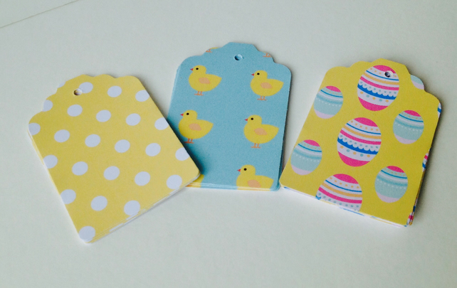 Easter Theme,Gift or Message Blank Tags,Co-Ordinating Pk of 30