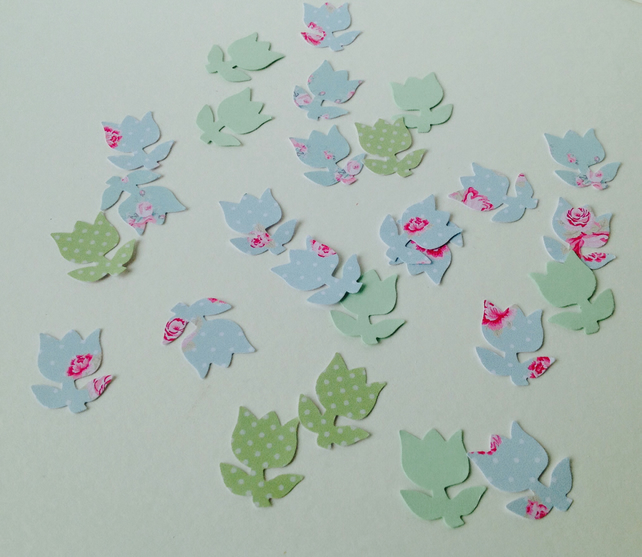 Card Shapes,'Tulips in Greens'Assorted Green Card,100pk