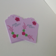 Decorative Designed Gift Tags,Blank Message Tags,30 Pk,Handmade