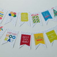Card Shapes,Birthday Themed Flags,Bunting,100pk