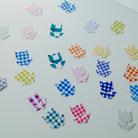 Card Shapes,Gingham Tulips,100pk,Flower Shapes For Craft