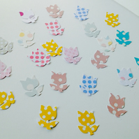 Card Shapes,'Dots and Spots'Tulips,100pk,Flower Hand Punched shapes