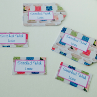 Label Style Message Tags,Pack of 30,'Stitched With Love'Handmade Tags