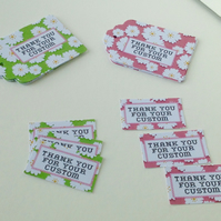 Label Style Message Tags,Pk of 30,Handmade Tags