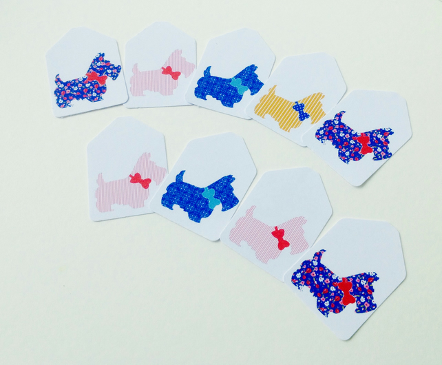 Small Blank Tags, Mini 'Scottie Dog'Tags,Can Be Customised,Personalised