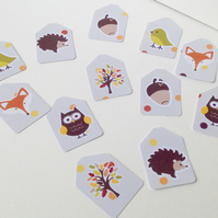 Small Blank Tags,Mini Woodland  Theme Tags,Can Be Personalised 100pk