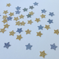 Glittered Card Star Shapes,Gold,Silver,Mix,100pk,Card Craft Shapes