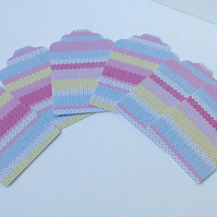 Card Gift Blank Tags,Pack of 100,Handmade Tags,Colourful Knitted Theme