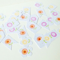 Card Assorted Shapes,Spring,Summer Flower Theme,100pk