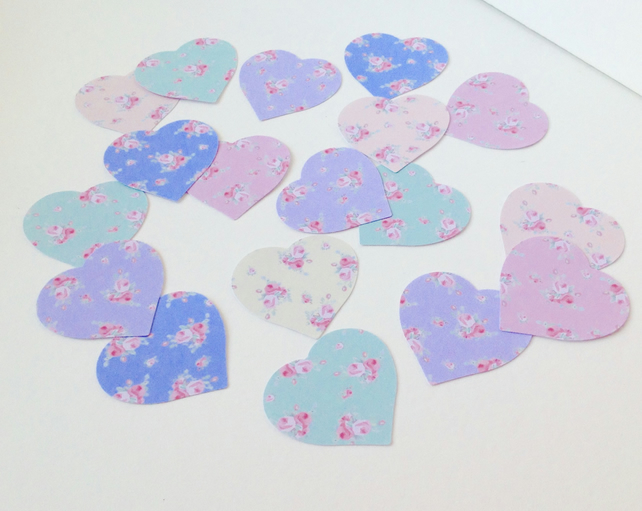 Card Shapes 'ShabbyChic' Hearts,Cardcraft Chunky Hearts,100 Assorted Colours
