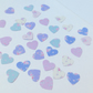 Card Shapes For Craft,'Shabby Chic,'Floral Hearts,Scalloped and Plain Edge,100pk