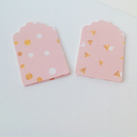Card Gift,Message Blank Tags,30pk,Handmade Tags,'Pink Gold Confetti'