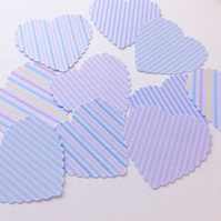 Card Heart Shapes,Large Scalloped Hearts,Pastel Candy Stripes,30pk