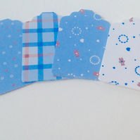 Card Gift Message Tags,Co-Ordinating pk of 30,Baby In Blue Theme